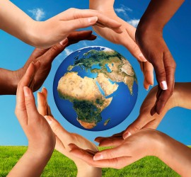 Conceptual peace and cultural diversity symbol of multiracial harmony